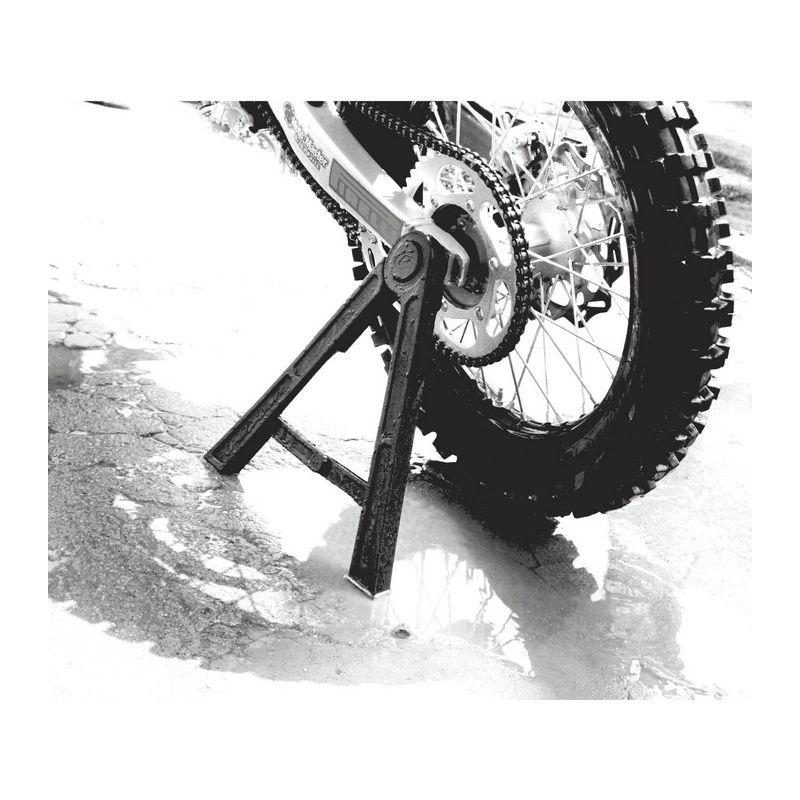 Tapis de b/équille de moto,Support de plaque de base de b/équille de moto pour le stationnement en ext/érieur 1 sol mou Pied de b/équille de moto