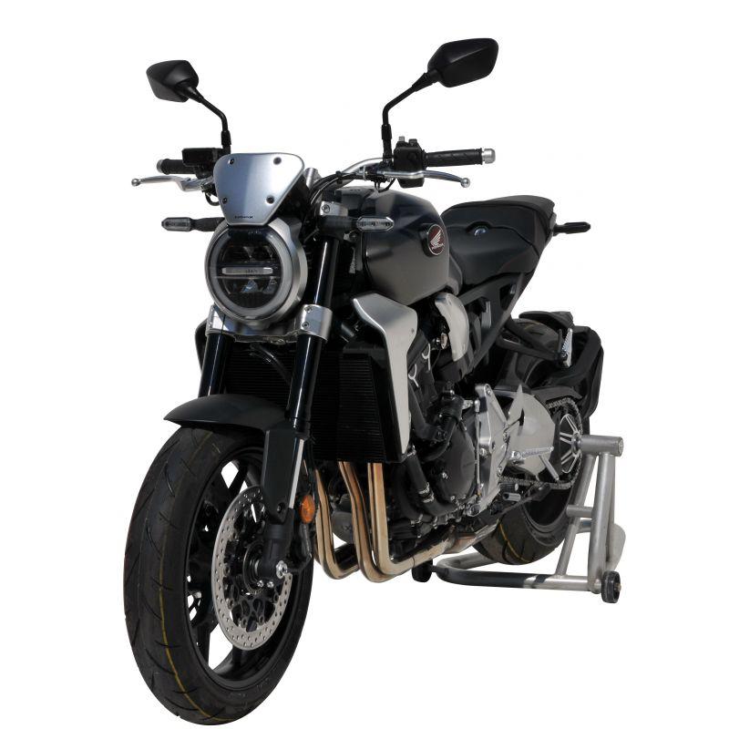 CB650R Neo Sports Cafe 2019+(Argent) Moto Pare-Brise en Aluminium avec Support de D/éflecteur de Vent pour Honda CB1000R Neo Sports Cafe 2018