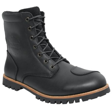 bottines cuires moto gomme
