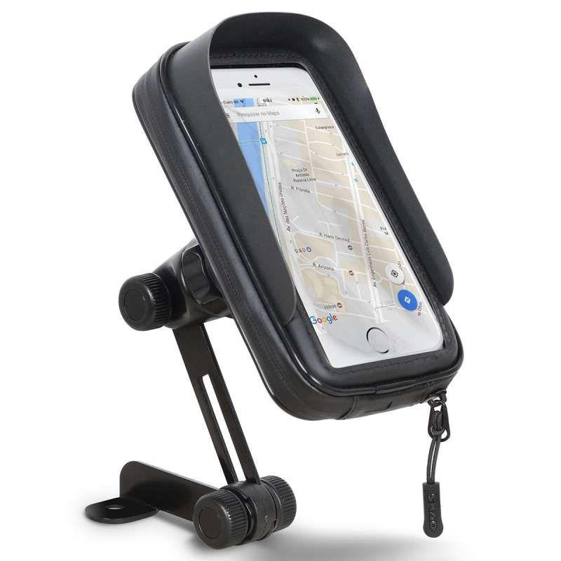 Faneam Etanche Support Smartphone Moto Rotation /à 360 /°Support T/él/éphone Moto R/étroviseur Universel Porte Smartphone Moto Sac de Moto avec Housse de Pluie,Jusqu/à 6.5 Noir